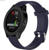 Horloge Band Voor Garmin Vivomove HR - Armband / Polsband / Sport Strap / Sportband - Donker Blauw