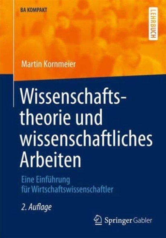Boek cover Wissenschaftstheorie Und Wissenschaftliches Arbeiten van Martin Kornmeier (Paperback)