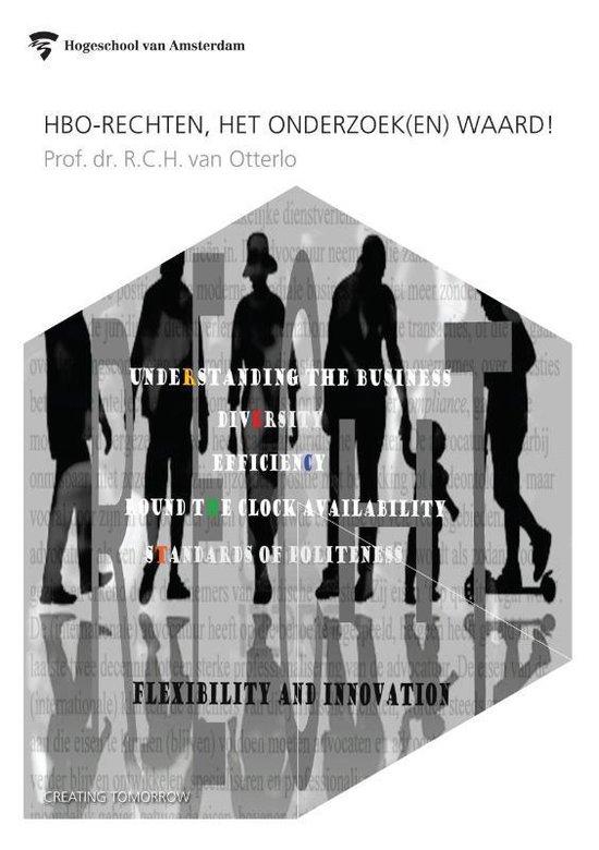 Cover van het boek 'HBO-rechten, het onderzoek(en) waard!' van R.C.H. van Otterlo