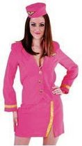 Roze stewardessen uniform 42 (xl)