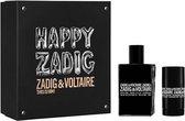 Prada Zadig And Voltaire Happy Zadig This Is Him! Eau De Toilette Spray 100ml Set 2 Pieces 2018