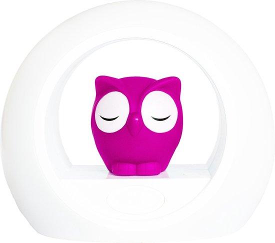 Zazu Lou Uil - Nachtlampje - Roze - Kinderlamp met geluidsensor en nachtlamp functie