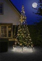 Fairybell LED Kerstboom voor buiten inclusief mast - 400 cm hoog - 640 LEDs - Warm wit