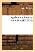 Legislation et finances coloniales