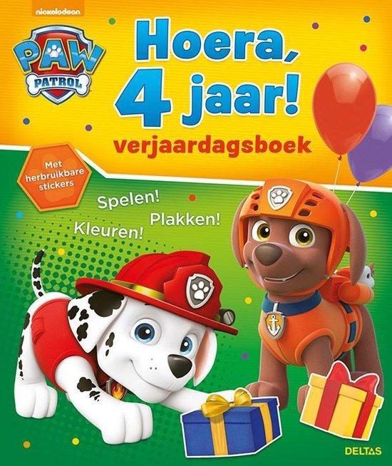 Afbeelding van Paw Patrol - Hoera, 4 jaar! Verjaardagsboek