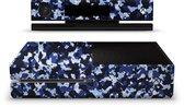 Xbox One Console Skin Camouflage Blauw Sticker
