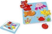 Houten puzzel met zeedieren
