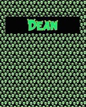 120 Page Handwriting Practice Book with Green Alien Cover Dean