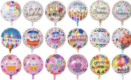 Happy Birthday Helium Ballonnen (5 stuks/45CM)