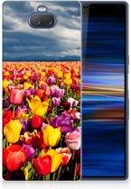Sony Xperia 10 Plus Uniek TPU Hoesje Tulpen