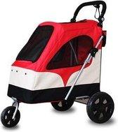 Topmast Hondenbuggy wandelwagen honden buggie De Luxe 3 wielen Rood 87 * 66 * 110 cm