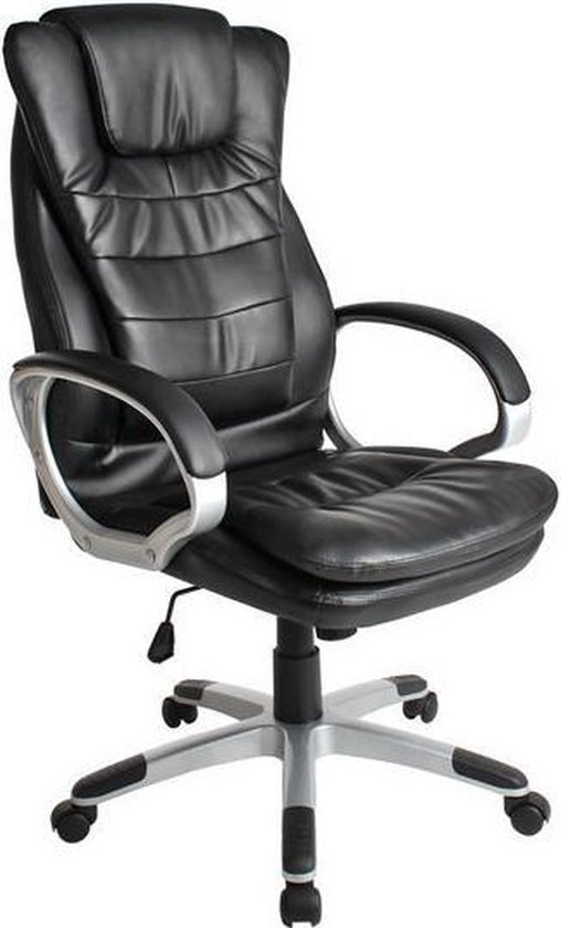 Bureaustoel Zwart Design.Bol Com Tectake Luxe Design Bureaustoel Zwart