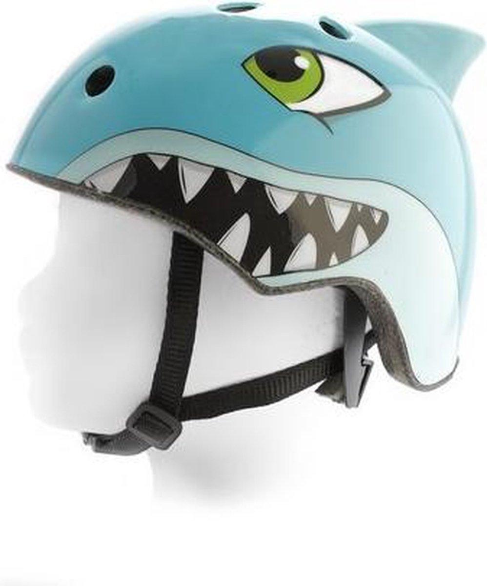 Pexkids Helm Dier Haai Blauw 54-58 cm - Kinderhelm - Fietshelm voor kinderen