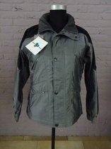 HKM Lente/Zomer Jack, Zilverkleur [ Grijs ] met zwart, verlengde rug, maat 164, Art 871.