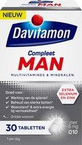 Davitamon Compleet Man - met extra selenium en zink - multivitaminen man - 30 tabletten