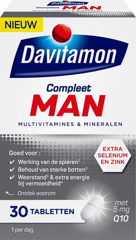 Davitamon Compleet Man Multivitaminen - 30 tabletten - met extra selenium en zink