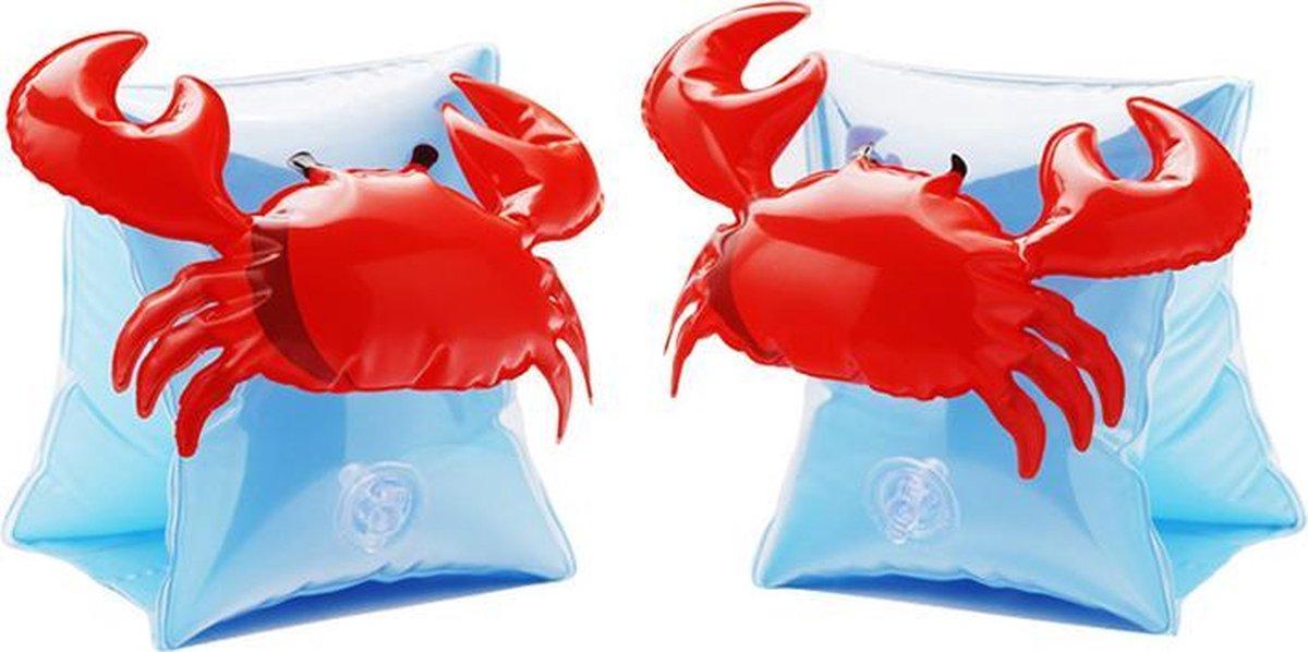 Krab zwembandjes - opblaasbaar - zwemband - zwemvleugels - zwemgordel - veilig - zwemmen - evooni - kinderen - 3-6 jaar - 15 tot 30kg - kers - aardbei - ananas - toekan - haai - unicorn - eenhoorn - krab