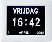 Digitale Kalender klok - Klok met tijd en datum-  kalenderklok