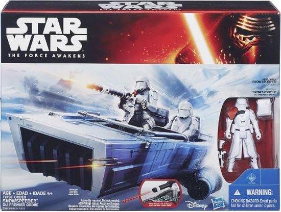 Afbeelding van het spel Star Wars: The Force Awakens First Order Snowspeeder voertuig + Stormtrooper figuur