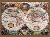 Fotobehang Antique Map - 232 x 315 cm - Multi