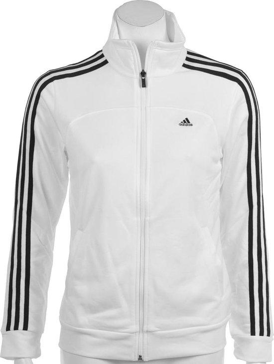 adidas Essentials 3Stripes Knit Suit Trainingspak Dames Maat L Wit;Zwart