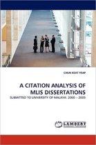 A Citation Analysis of Mlis Dissertations