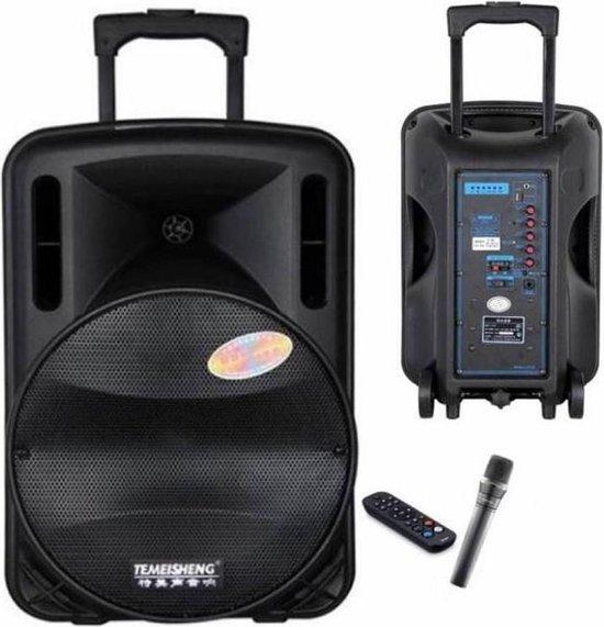 """Draagbaar Audiosysteem Karaoke set 12"""" Woofer met microfoon"""
