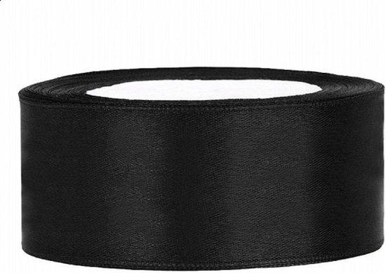 Zwart Satijn Lint 25mm