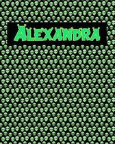 120 Page Handwriting Practice Book with Green Alien Cover Alexandra