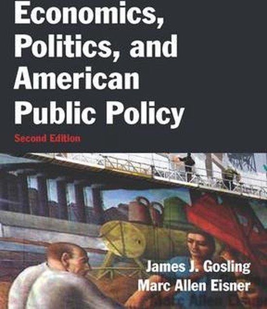 Boek cover Economics, Politics, and American Public Policy van James J. Gosling