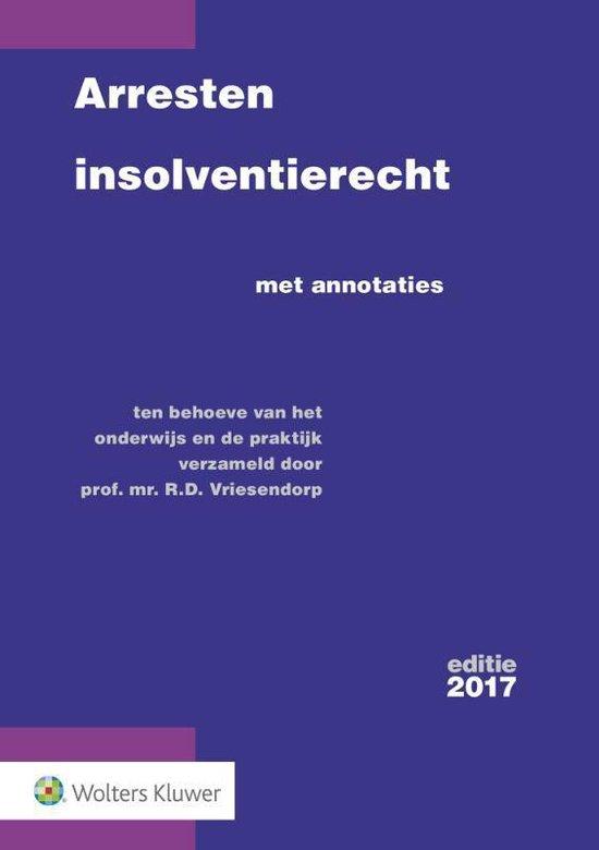 Arresten insolventierecht - R.D. Vriesendorp |