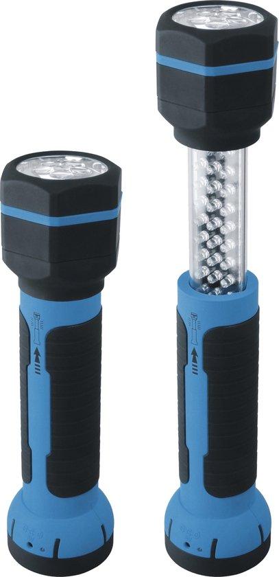 Smartwares Multifunctionele Zaklamp – LED – Uitschuifbaar – Accu en opladers