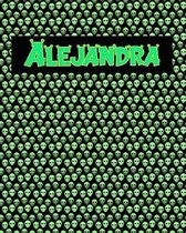 120 Page Handwriting Practice Book with Green Alien Cover Alejandra