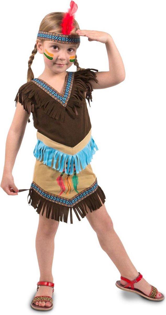 Indianen Jurkje Meisje 2delig- Verkleedkleding- Maat M - Folat