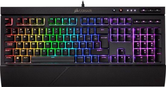 Corsair K68 RGB BE Azerty Cherry MX Red Mechanisch Gaming Toetsenbord