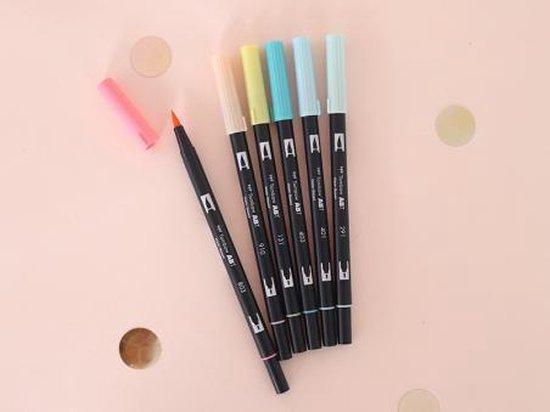 Tombow Brush pen ABT Dual Brush Pen Set off 6 Candy Colours