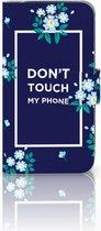 Flipcase Samsung S4 Flowers Blue DTMP