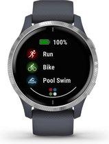 Garmin Venu - Smartwatch - 43 mm - Granietblauw/zilver