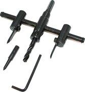 Cirkelsnijder / gatensnijder - verstelbaar van 30 tot 120 mm