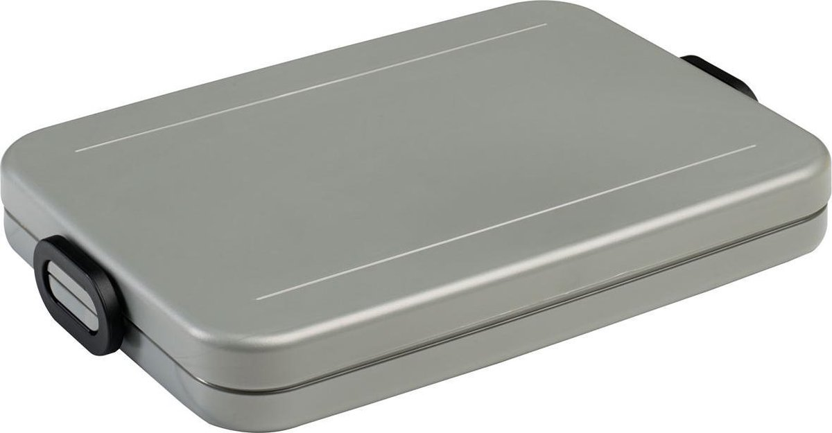 Mepal take a break lunchbox - flat - silver - Babygoodies