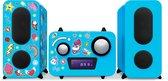 Bigben Robot Radio/CD-Speler - 350 Eenhoorn/Unicorn Stickers - Blauw