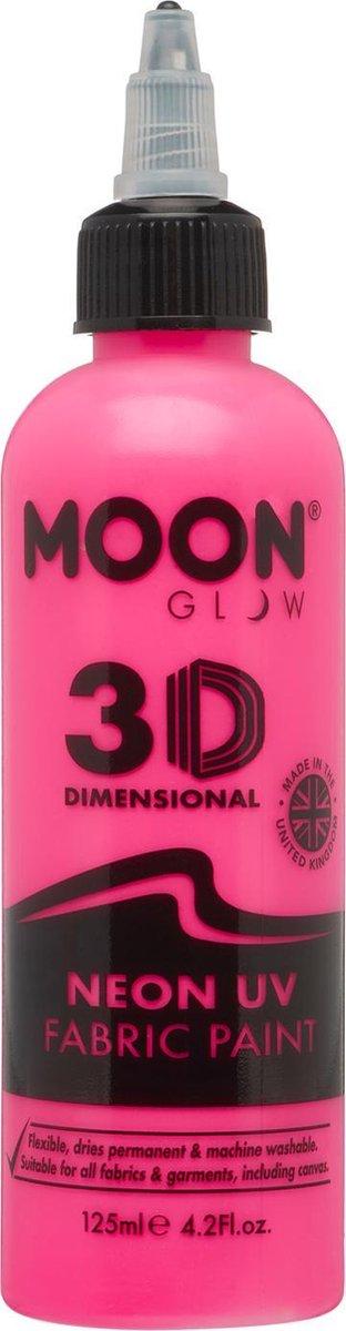 Moon-Glow NEON Fabric paint ( Textiel verf ) Roze 125 ml