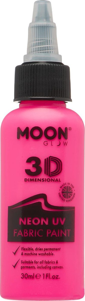 Moon-Glow NEON Fabric paint ( Textiel verf ) Roze 30 ml