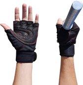 AWEMOZ® Fitnesshandschoenen - Sporthandschoenen - Zwart - Maat L