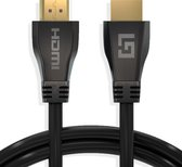 LifeGoods HDMI Kabel 2.1 - 4K Ultra High Speed (120hz) - Ethernet - HDMI naar HDMI - 1.5 Meter - Zwart