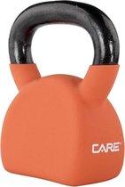 Care Fitness - Kettlebell - Gewicht 12KG Oranje - Kunststof - Crossfit/ Functional Fitness