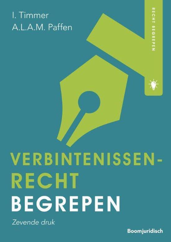 Boek cover Recht begrepen  -   Verbintenissenrecht begrepen van Ivar Timmer (Paperback)