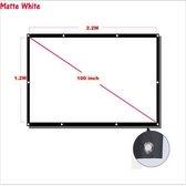 Projectiescherm 100 inch voor beamer - beamer scherm -projectie doek