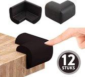 Hoekbeschermer | Baby hoekbeschermers| Tafel| Foam Zwart | 12 Stuks