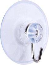 FSW-Products - 6 Stuks - Zuignap haakjes - Ophanghaakjes - Ophanghaken - Haken - Zelfklevend - Handdoekhaken - Kledinghaken - Sterke haken - RVS